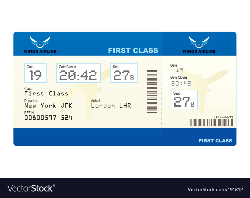 Plane ticket vector image