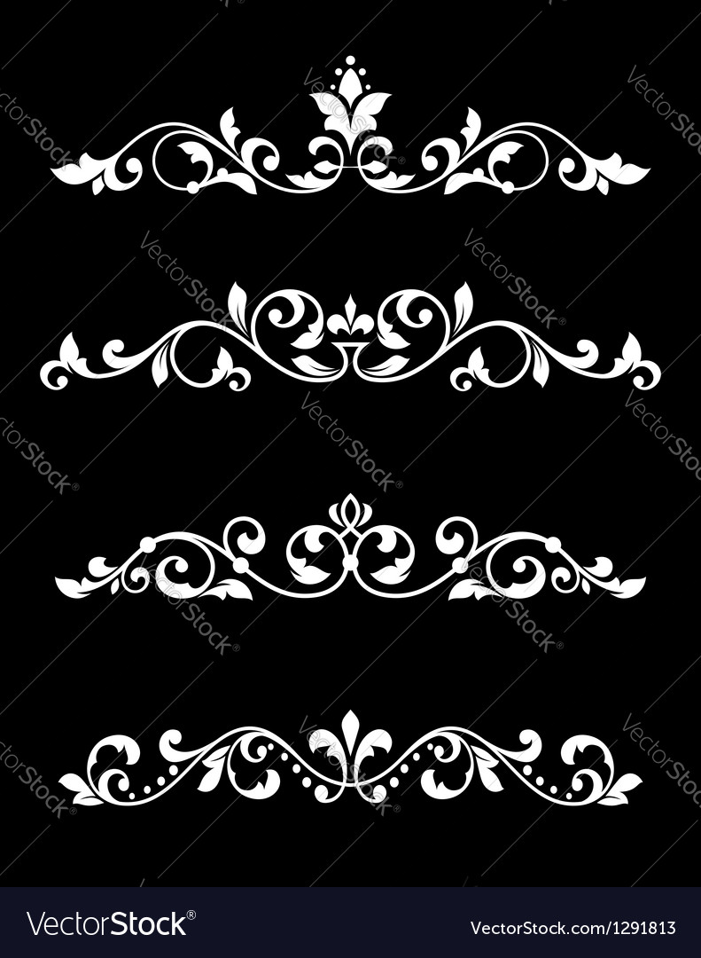 Borders and dividers in retro style vector image