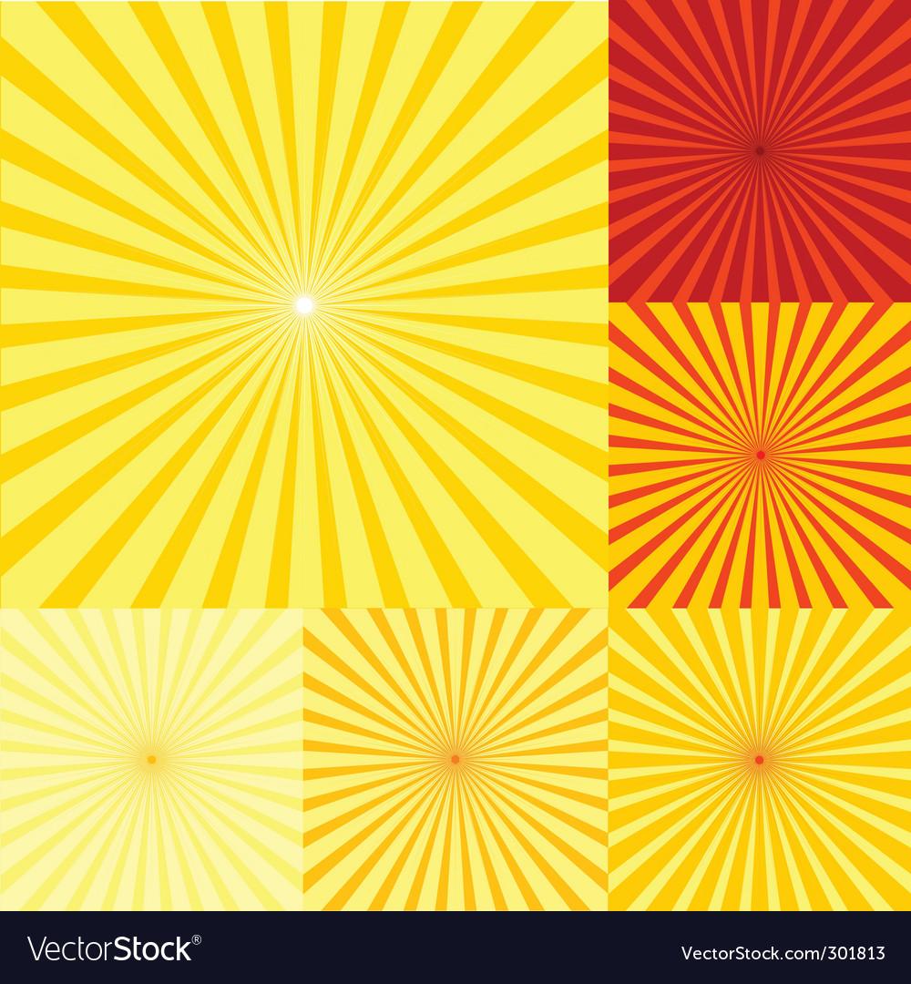 Sunshine background vector image