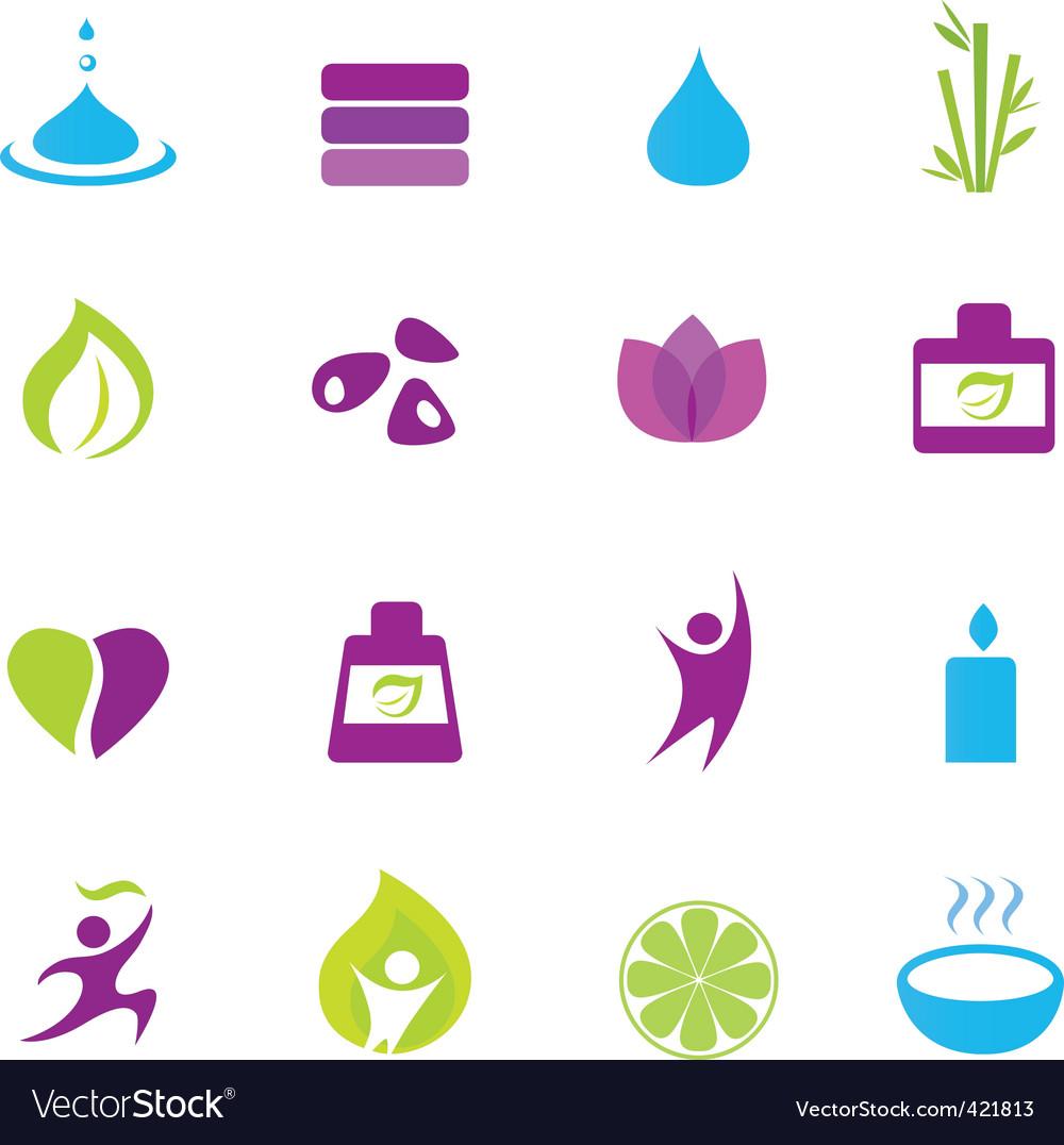 Water wellness and Zen icons vector image