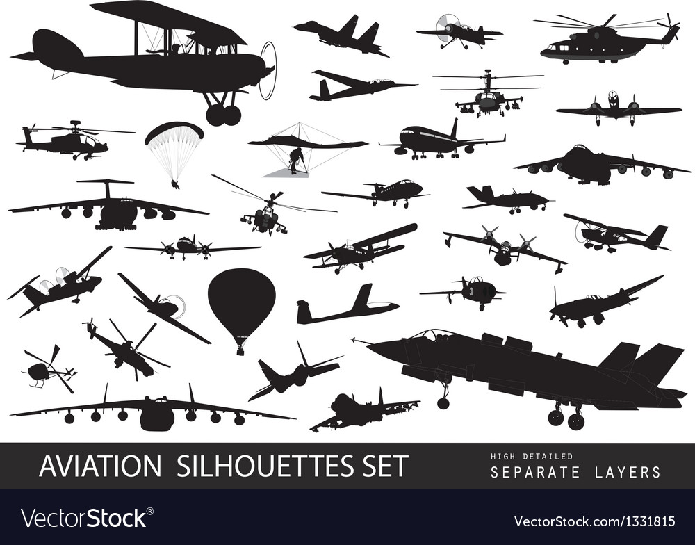 Aviation vector image