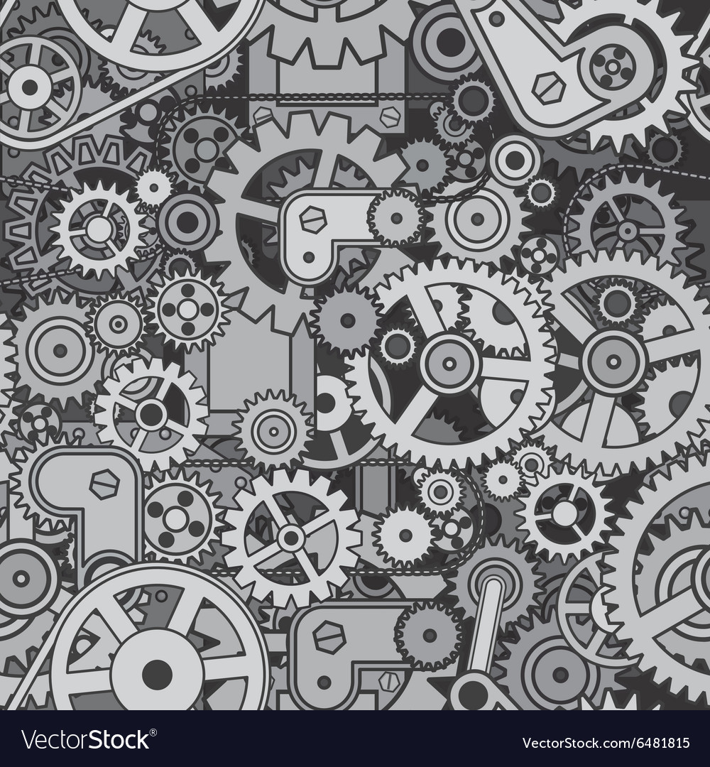 Abstract Mechanism Seamless Pattern Design vector image