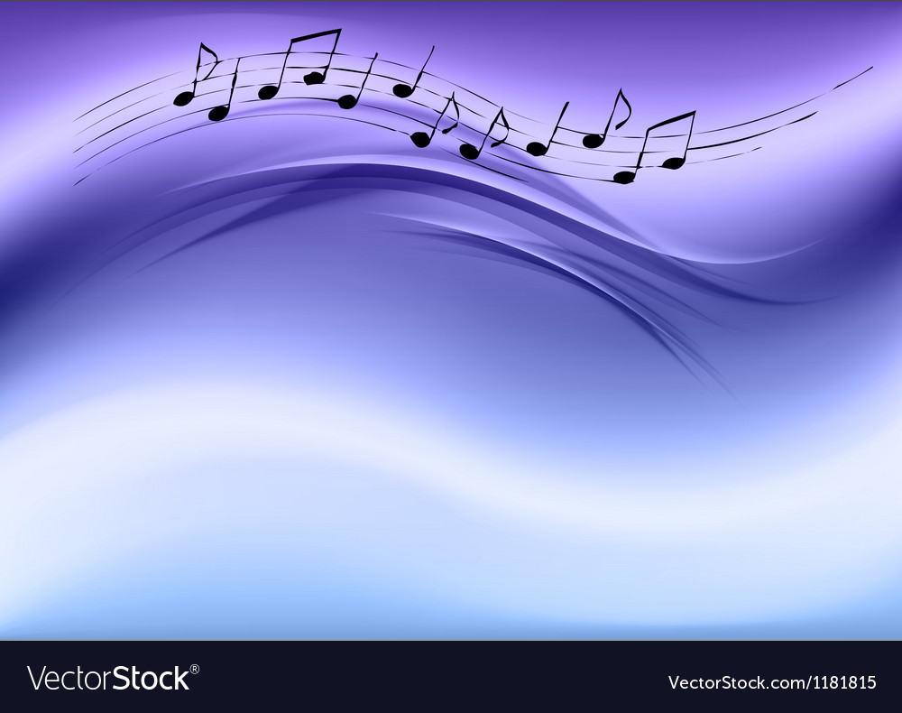 Abstract music blue vector image