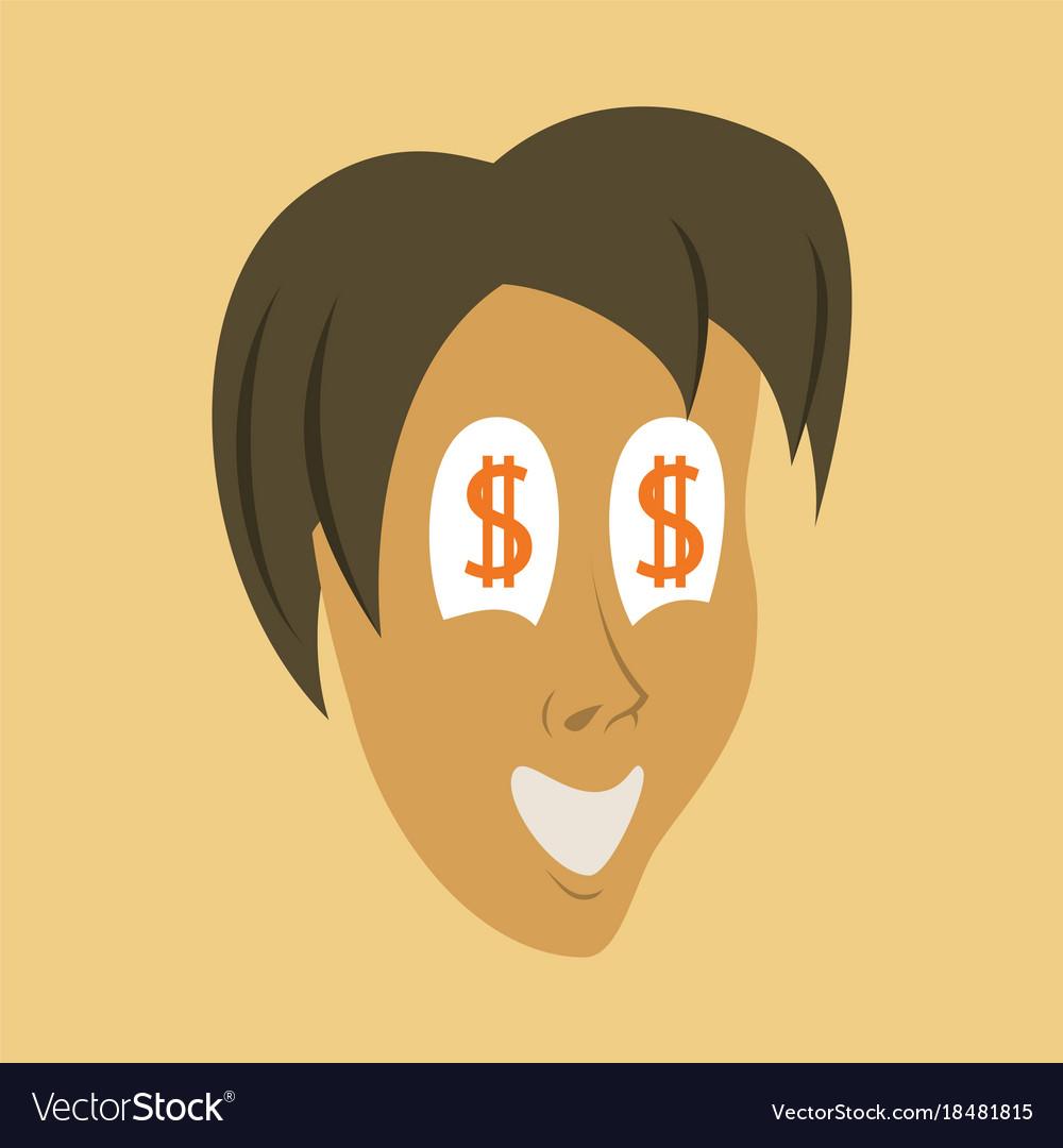 Set of emoticons avatars funny cartoon faces