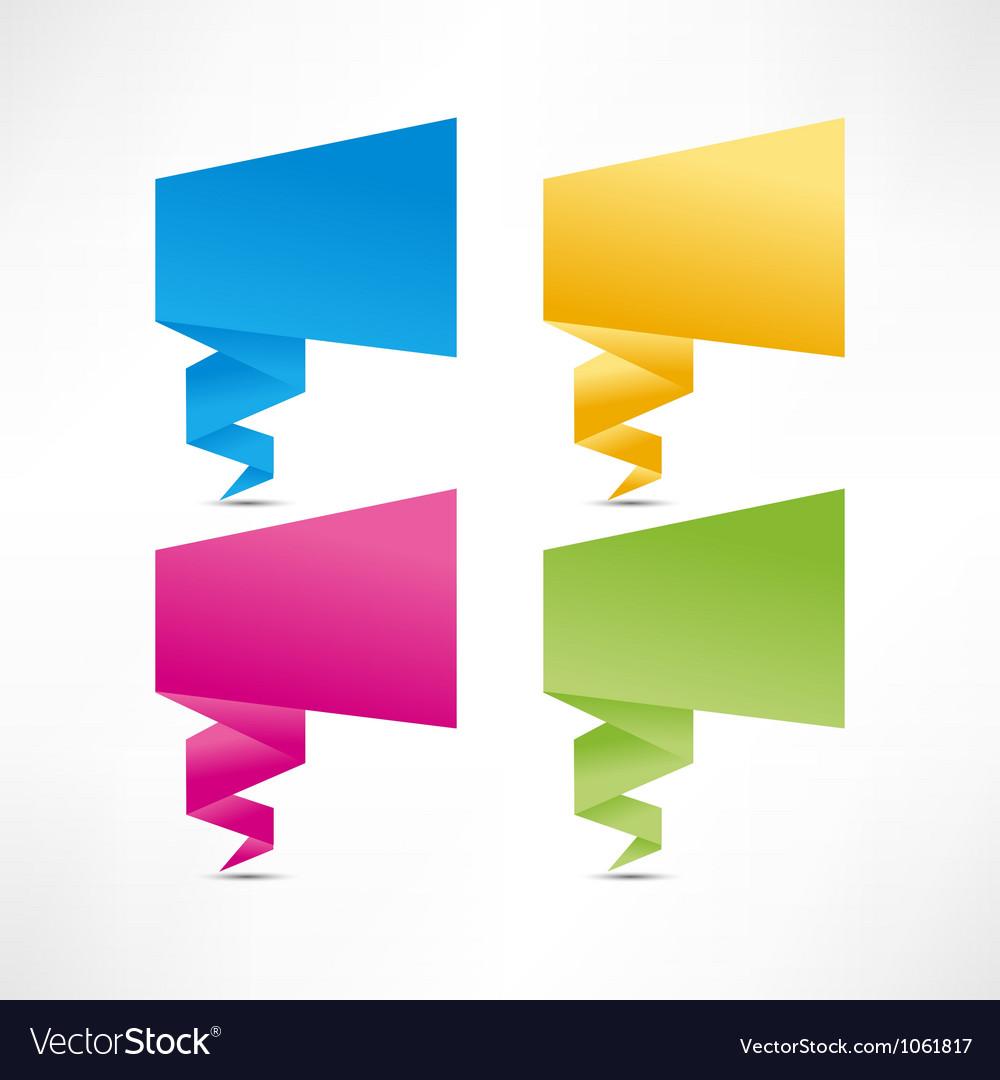 Paper origami speech bubble vector image