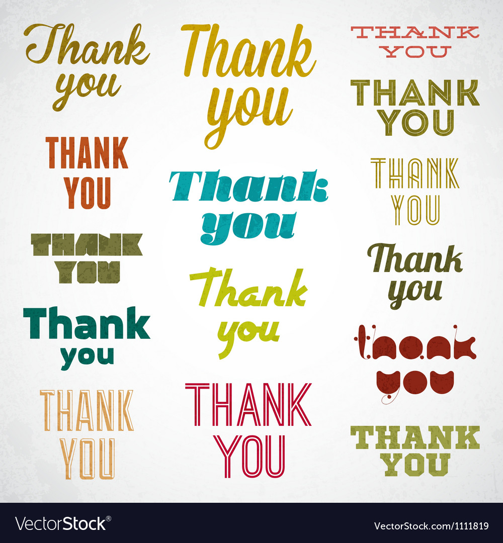 Thank You signature vector image