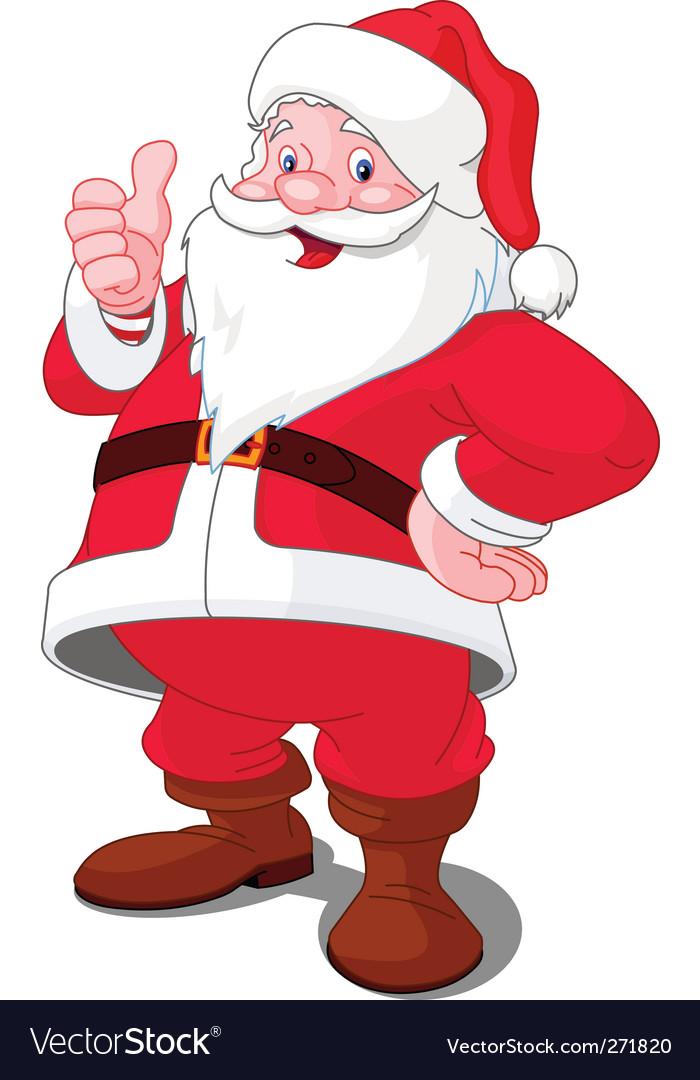 Cartoon Santa vector image