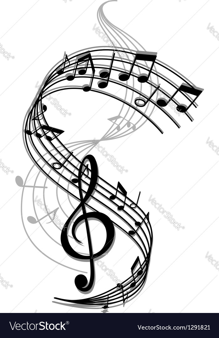 Abstract art music background vector image
