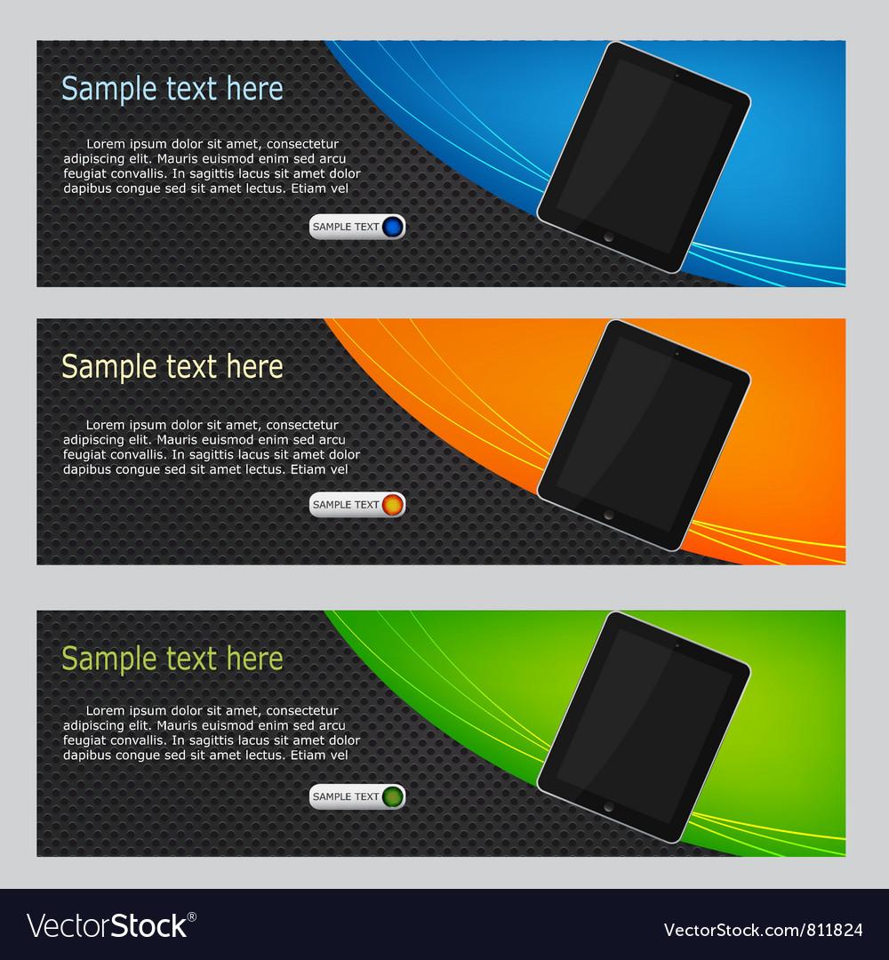 Website headers promotion vector image