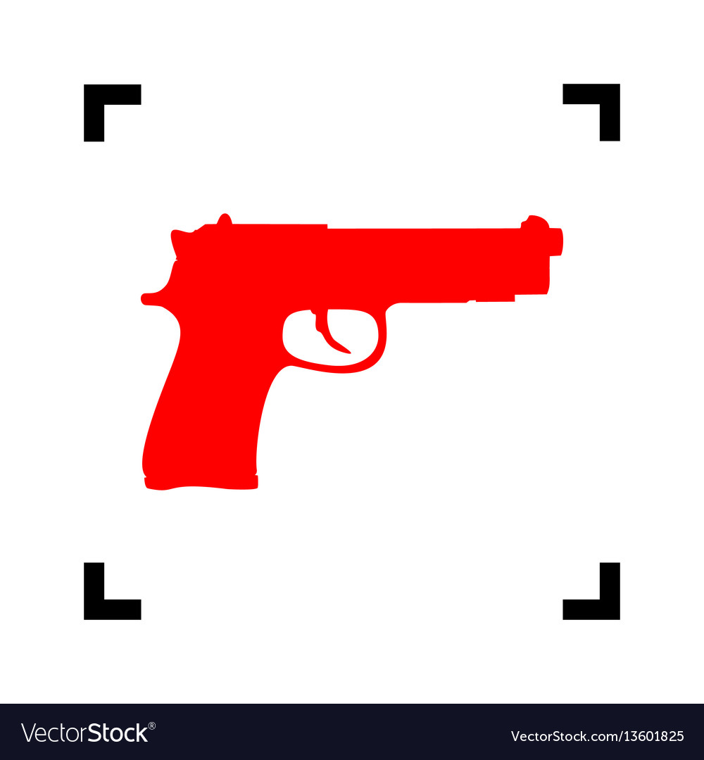 Gun sign red icon inside royalty free vector image gun sign red icon inside vector image biocorpaavc