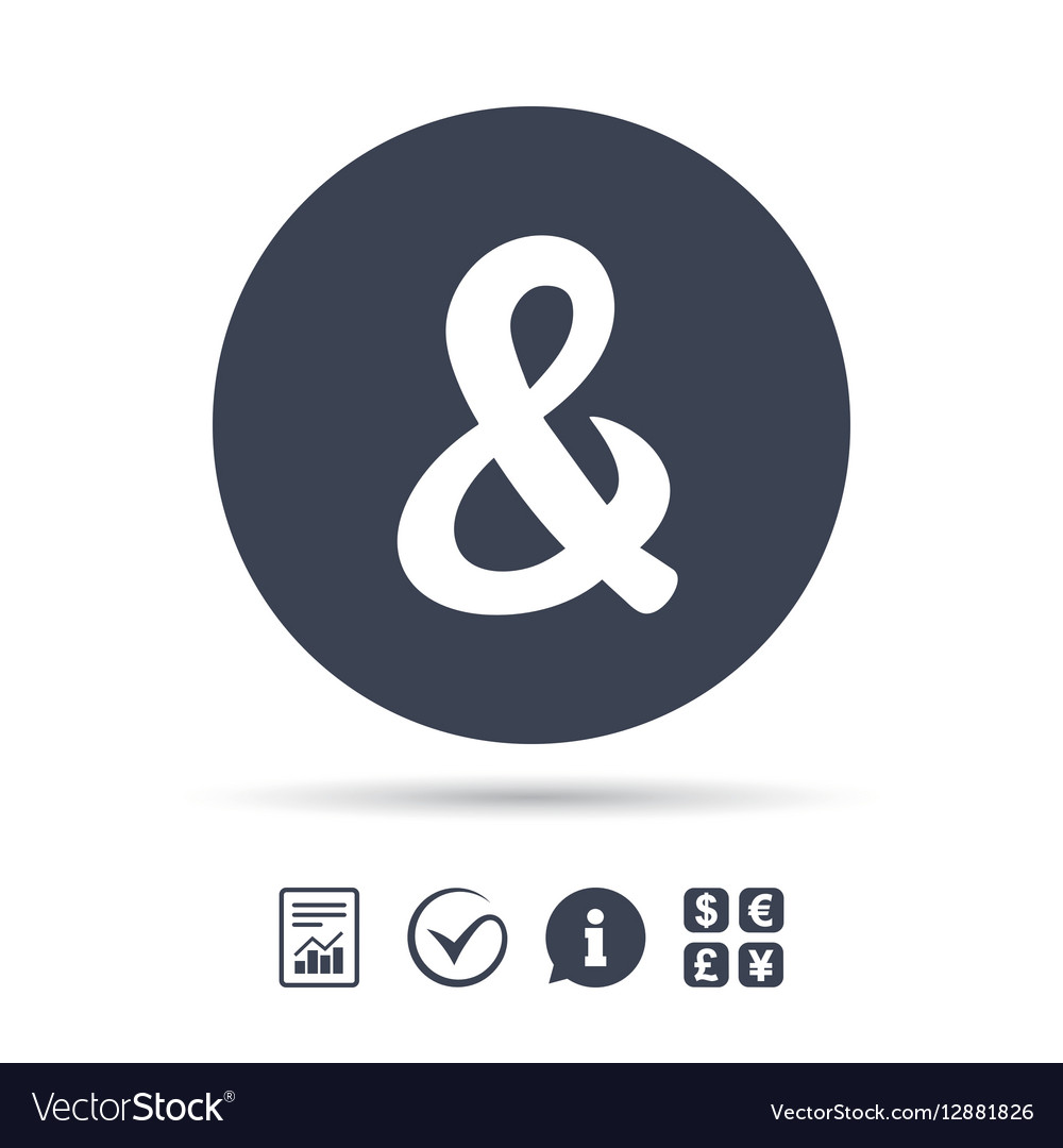 Ampersand sign icon Logical operator AND vector image
