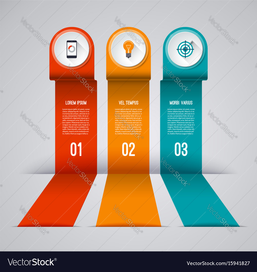 Infographic banner with 3 options vector image