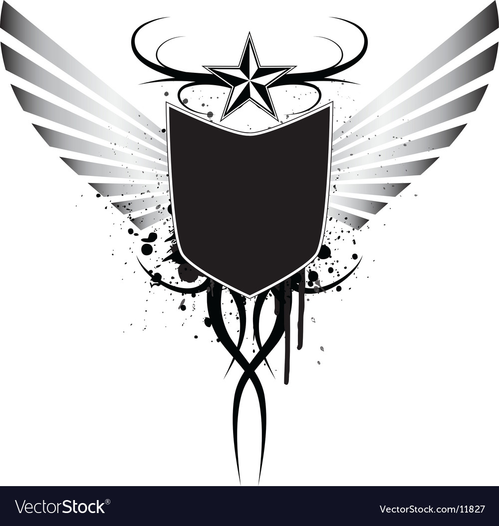 Wingedsplattercrest vector image