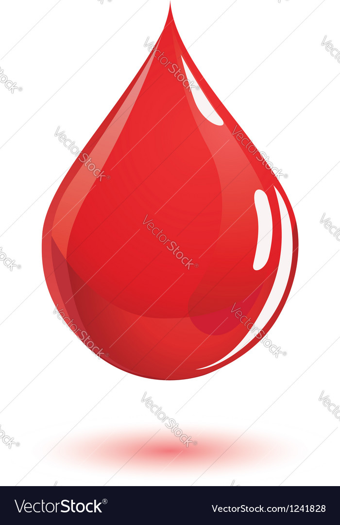 Blood drop vector image