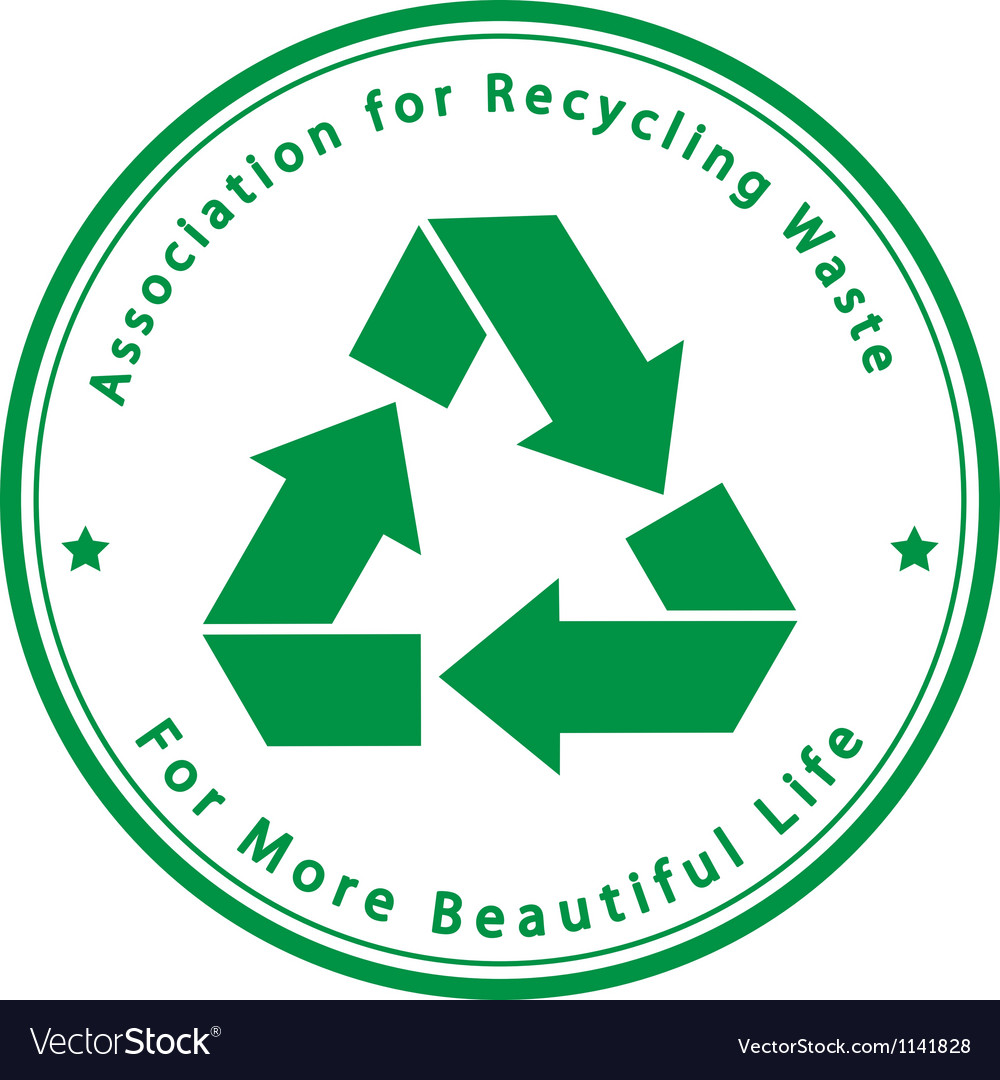 Association for Recycling Waste vector image