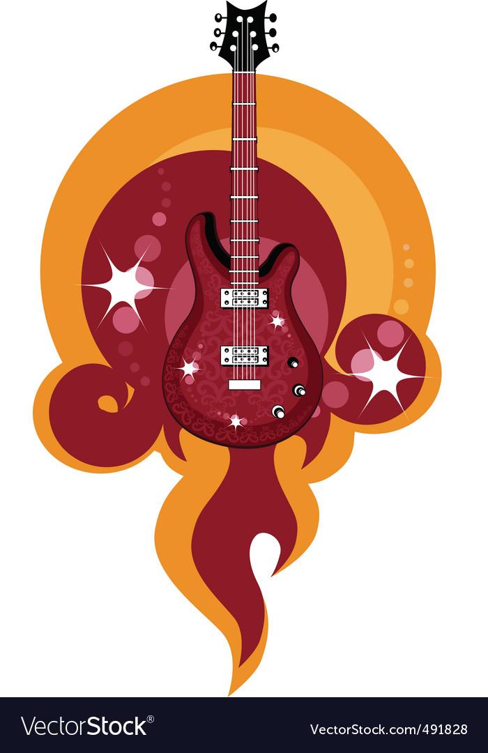 Caustic guitar vector image