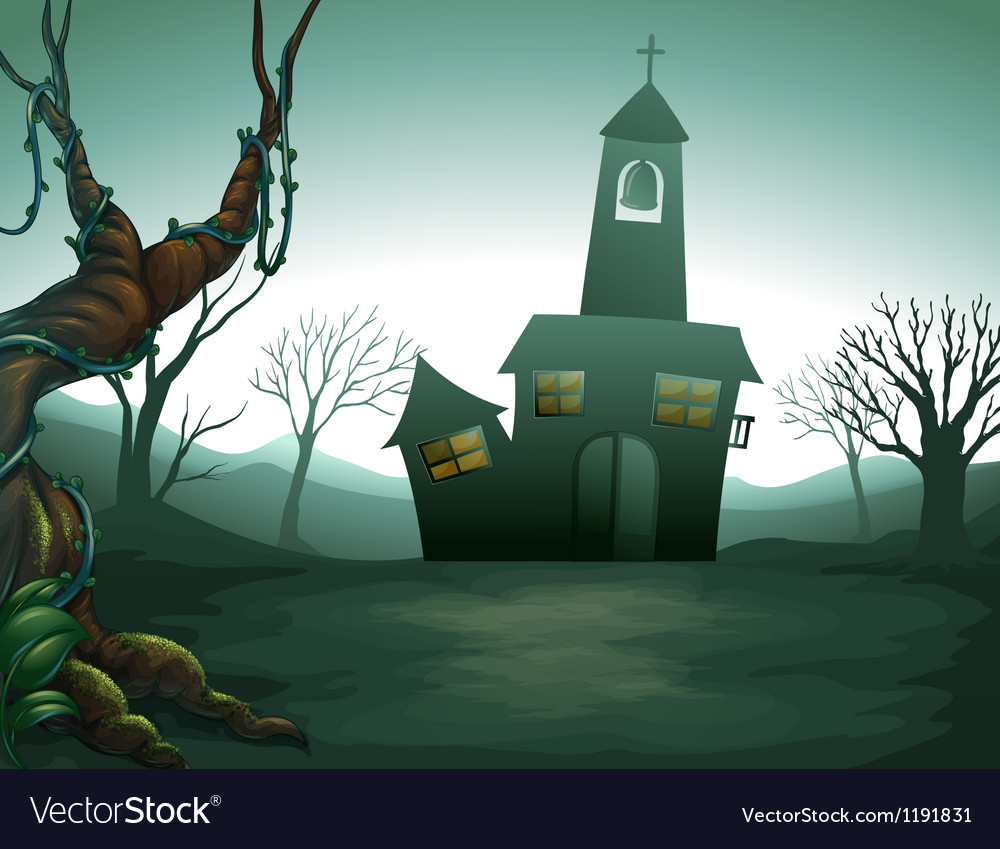 The grave yard Vector Image