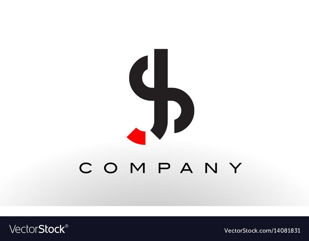 Sj logo letter design vector image
