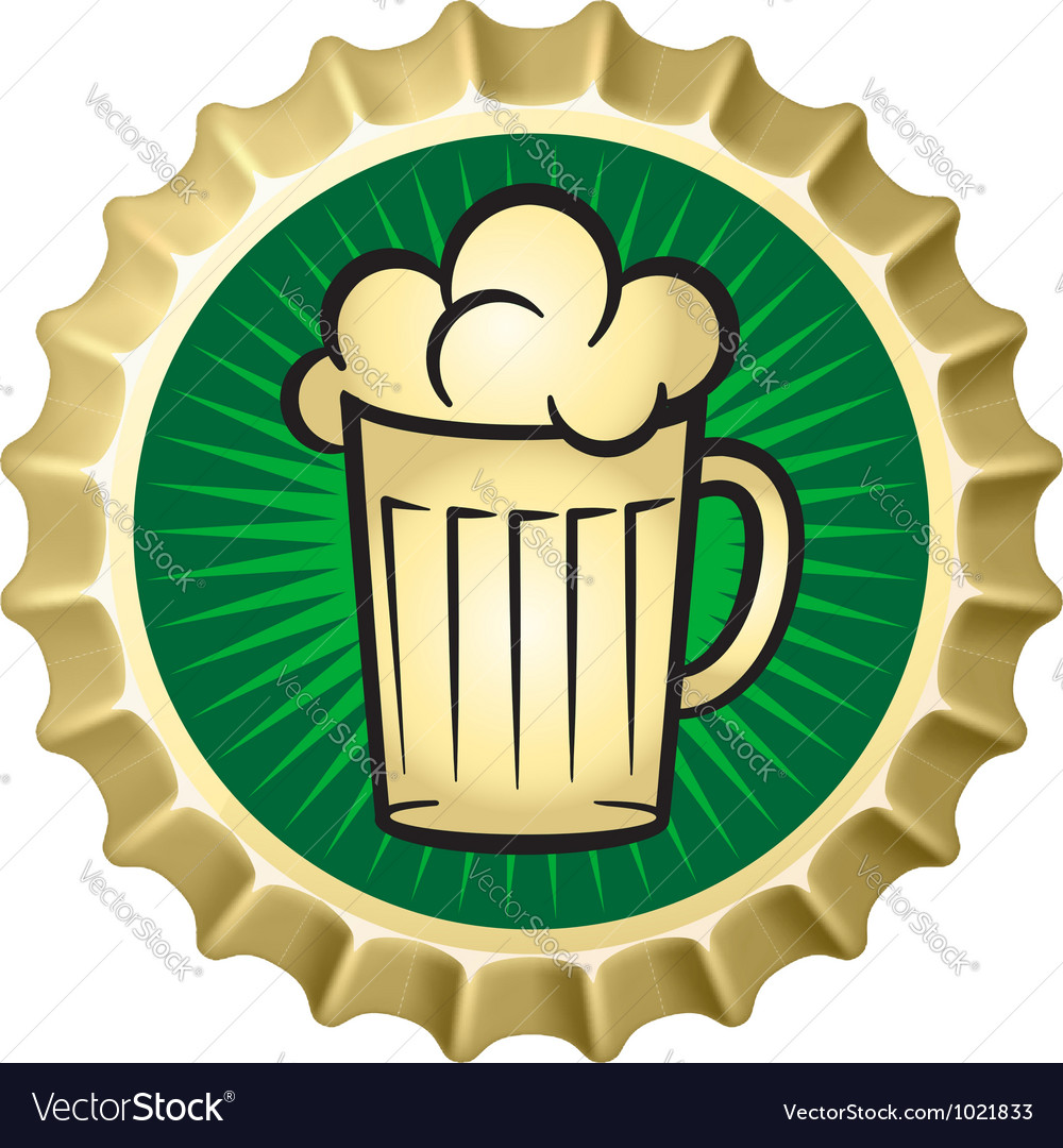 Beer caps vector image
