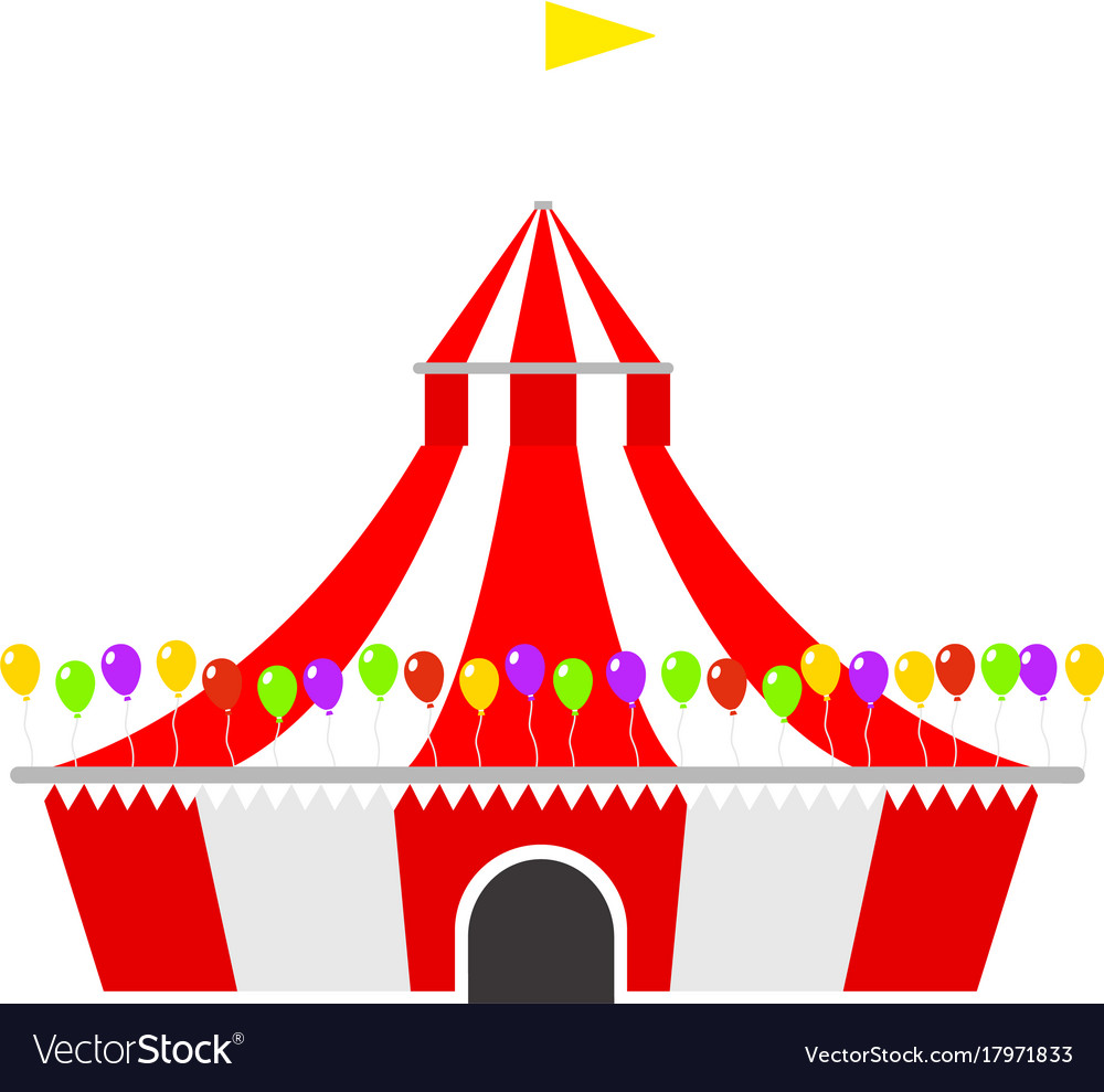 Circus show entertainment tent marquee outdoor vector image  sc 1 st  VectorStock & Circus show entertainment tent marquee outdoor Vector Image