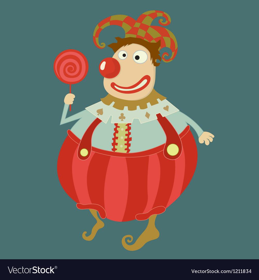 Funny clown art- Vector Image