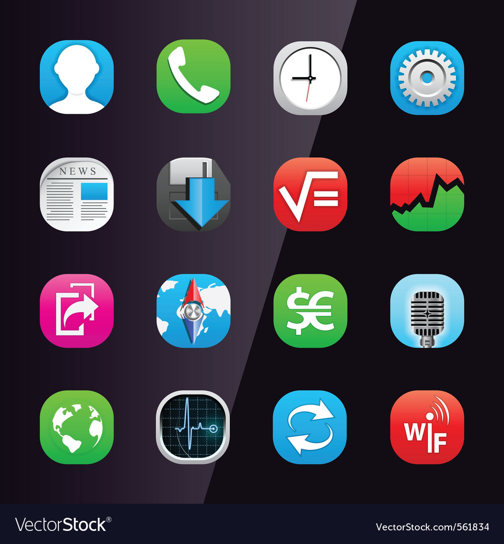 Mobile phone apps Vector Image