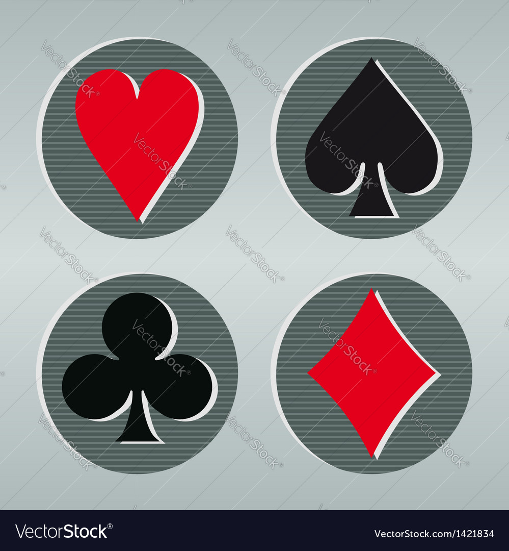 Poker playcard icons vector image