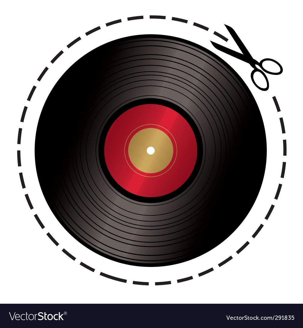 Cut out music token vector image