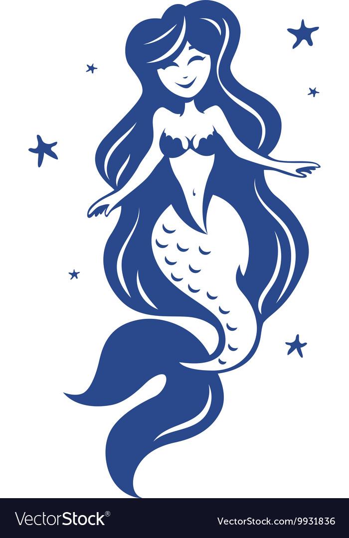 Mermaid fairy tale marine vector image