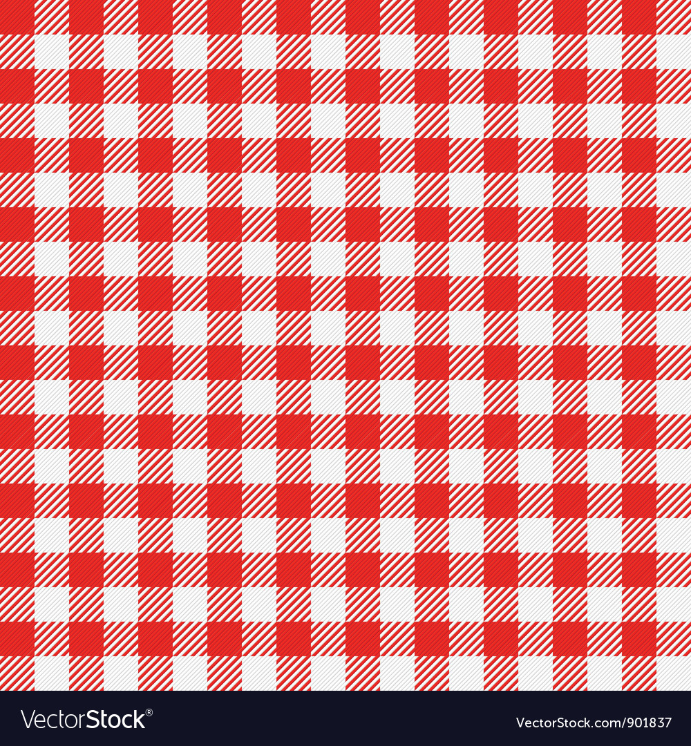 Seamless checkered tablecloth vector image