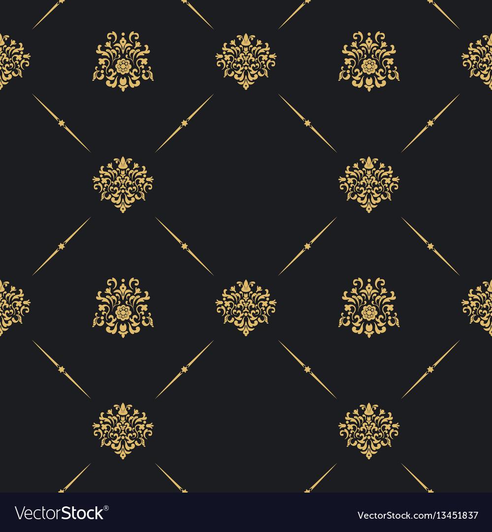 Seamless vintage pattern decor vector image