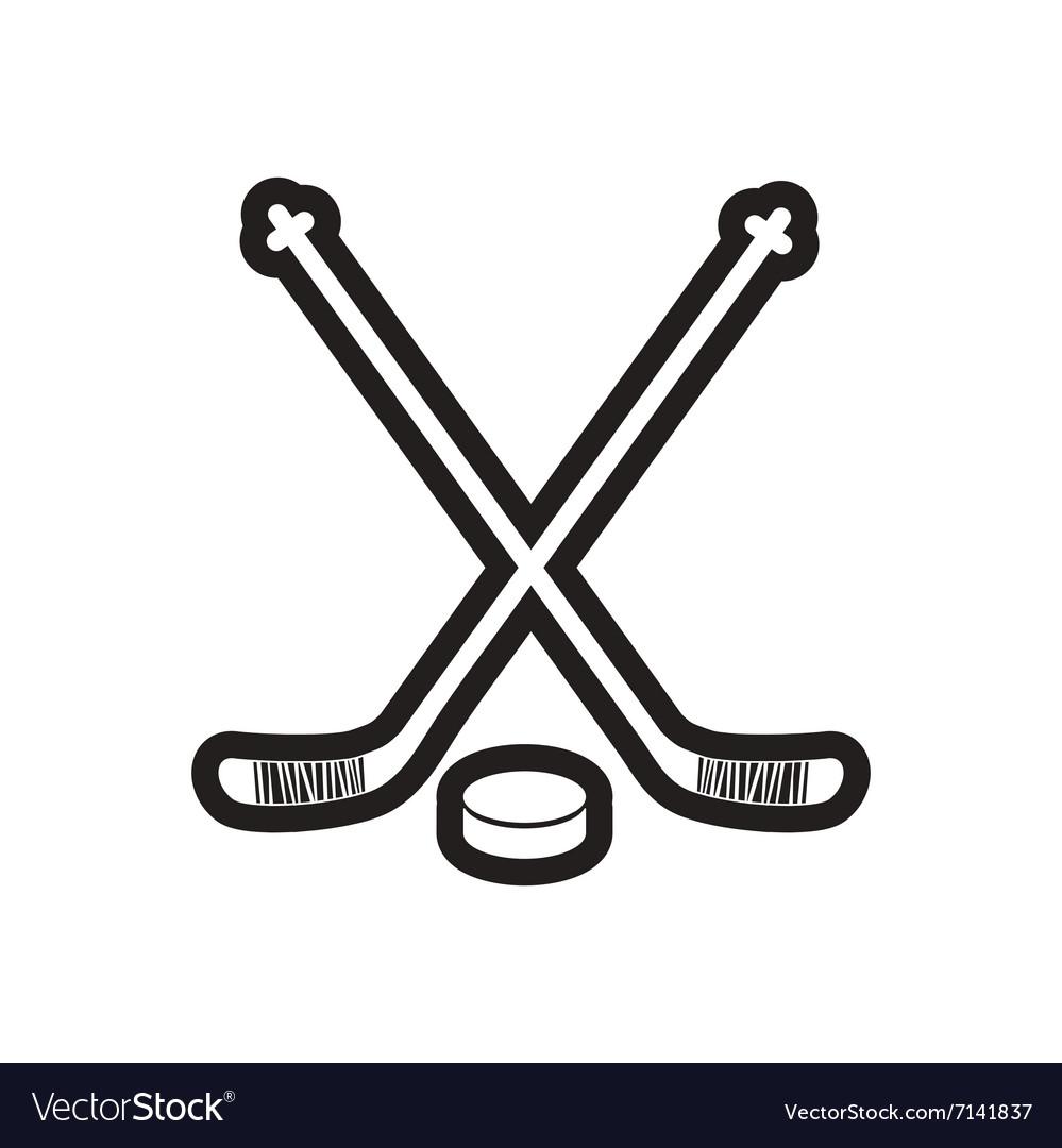hockey logo badge design elements