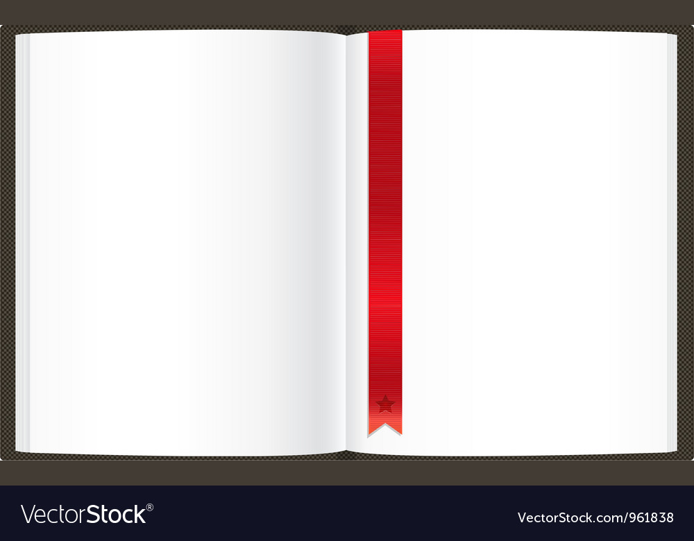 Openned Empty Book vector image