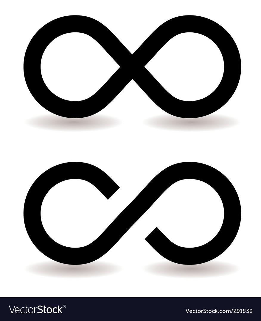Infinity symbol Royalty Free Vector Image - VectorStock