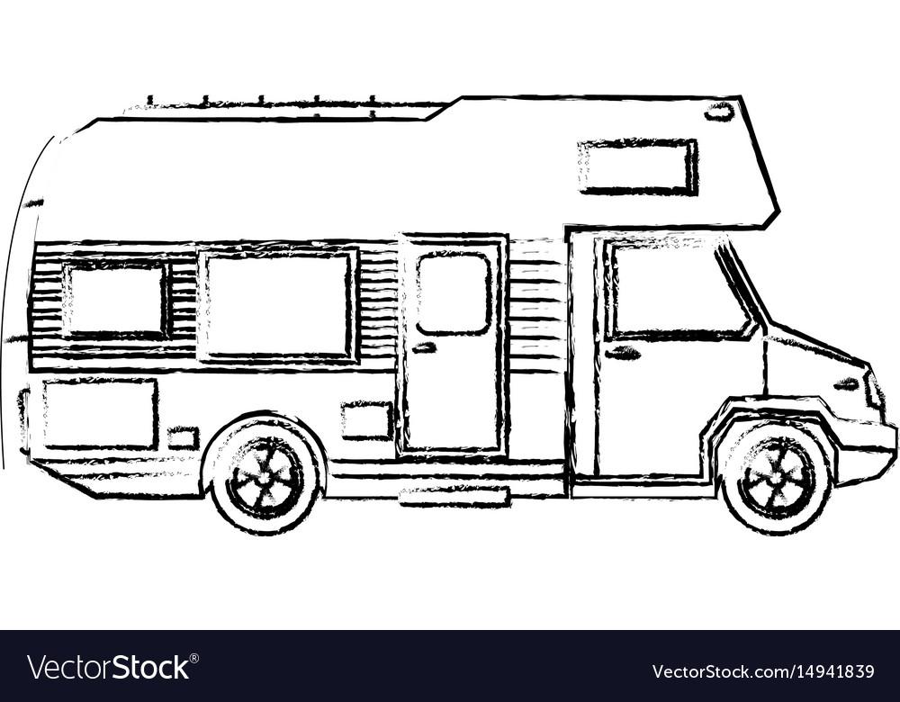 Truck camper home travel transport image vector image
