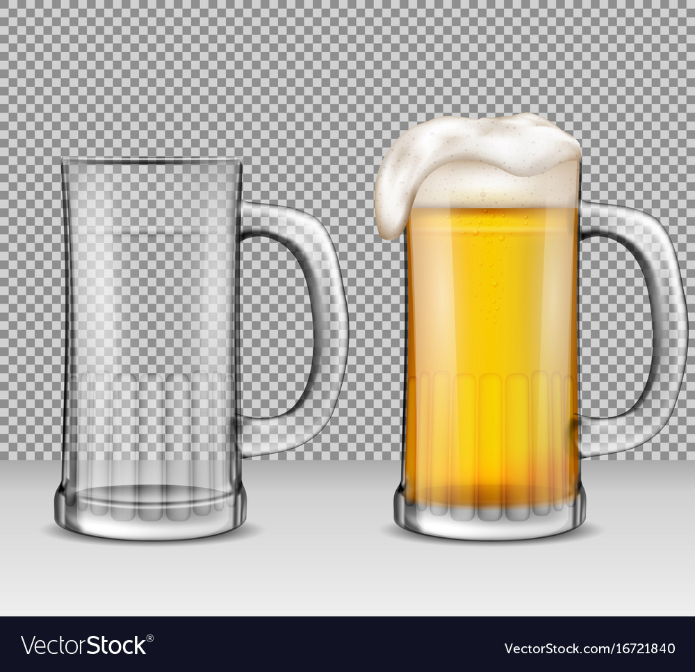 Realistic of two transparent vector image