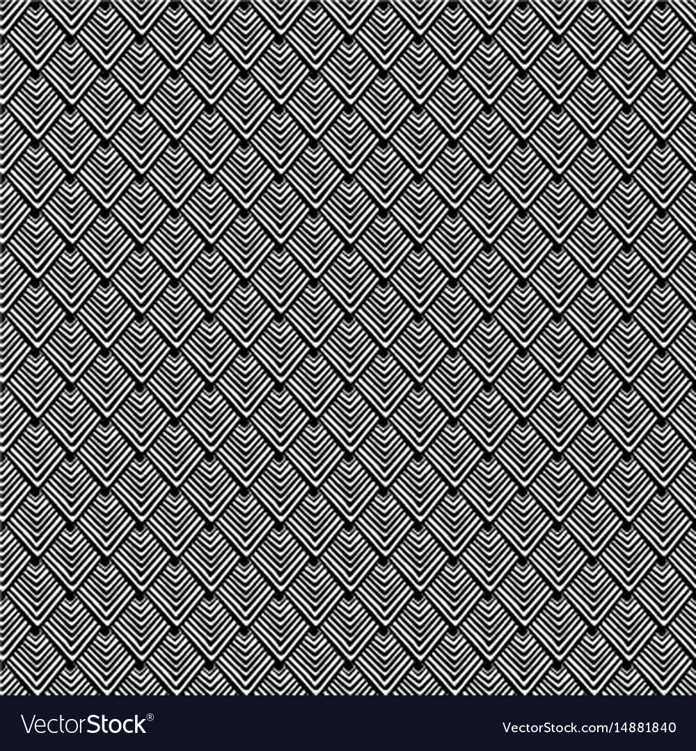 Seamless black and white lines pattern abstract vector image
