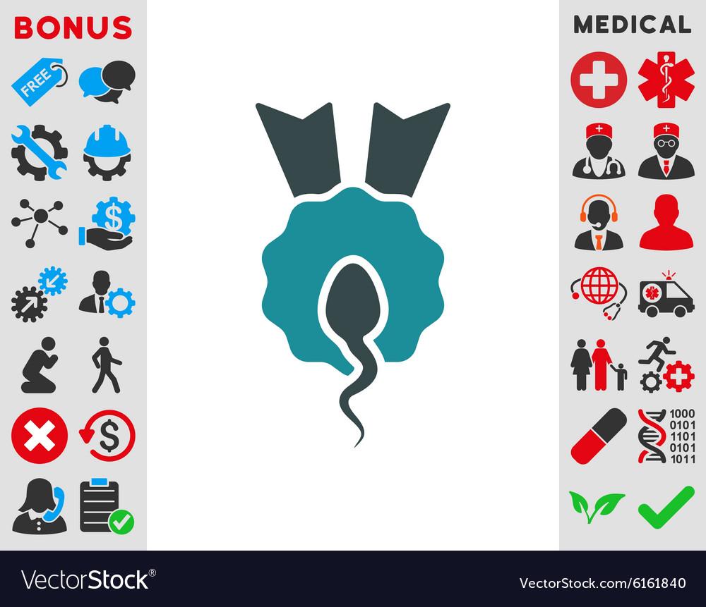 Sperm Winner Icon vector image