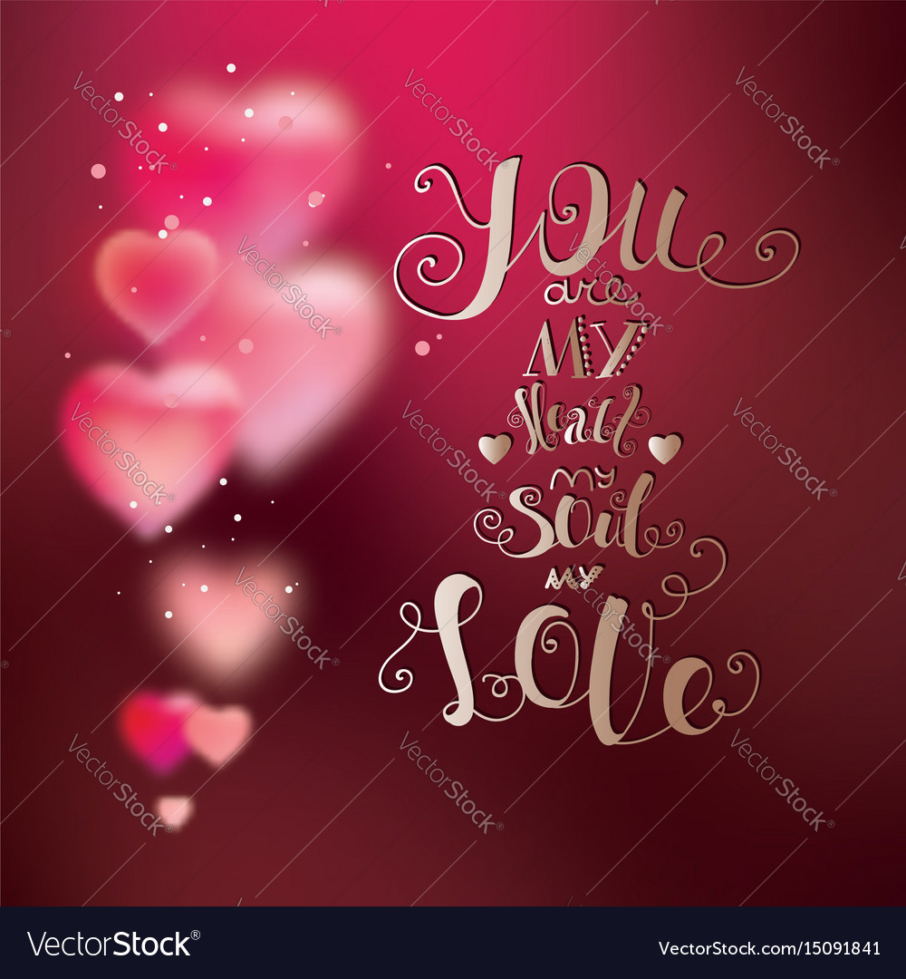 Calligraphic font hand drawing bright pink gold vector image