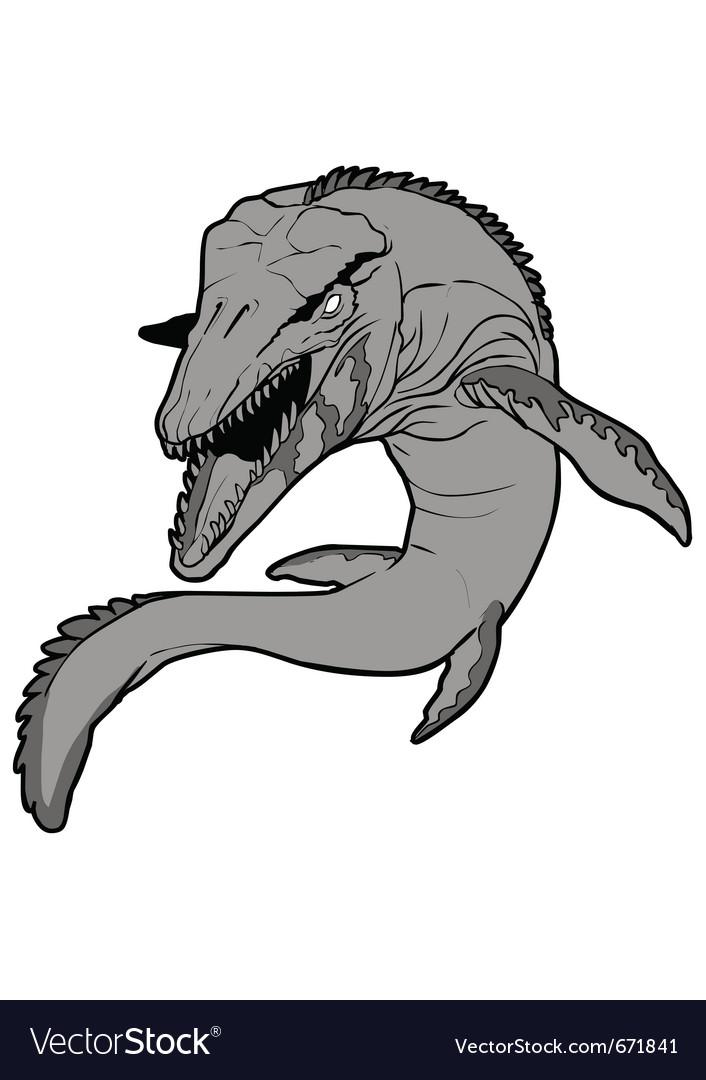Mosasaurus vector image