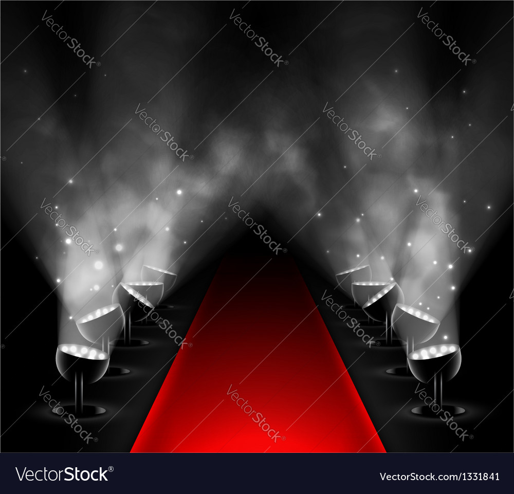 Red carpet vector image