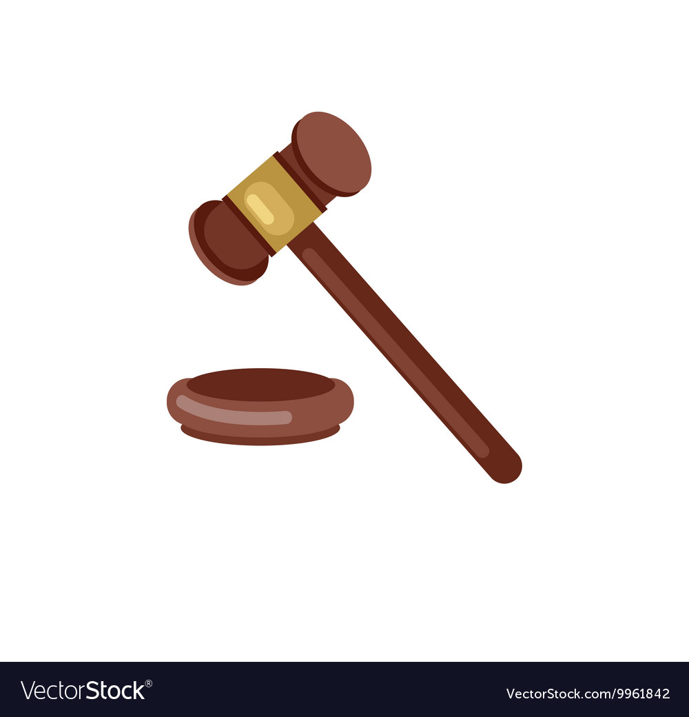 Gavel judge vector image