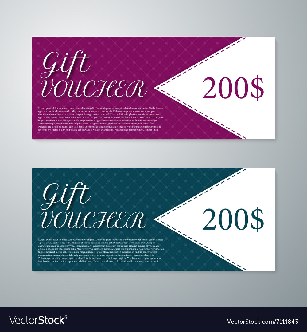 Gift voucher template royalty free vector image gift voucher template vector image yelopaper Image collections