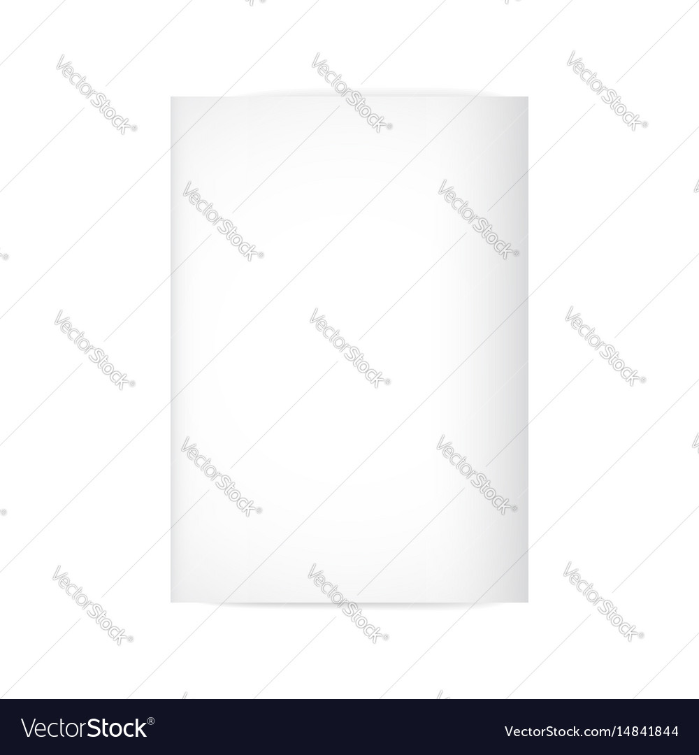 Paper mock up vector image