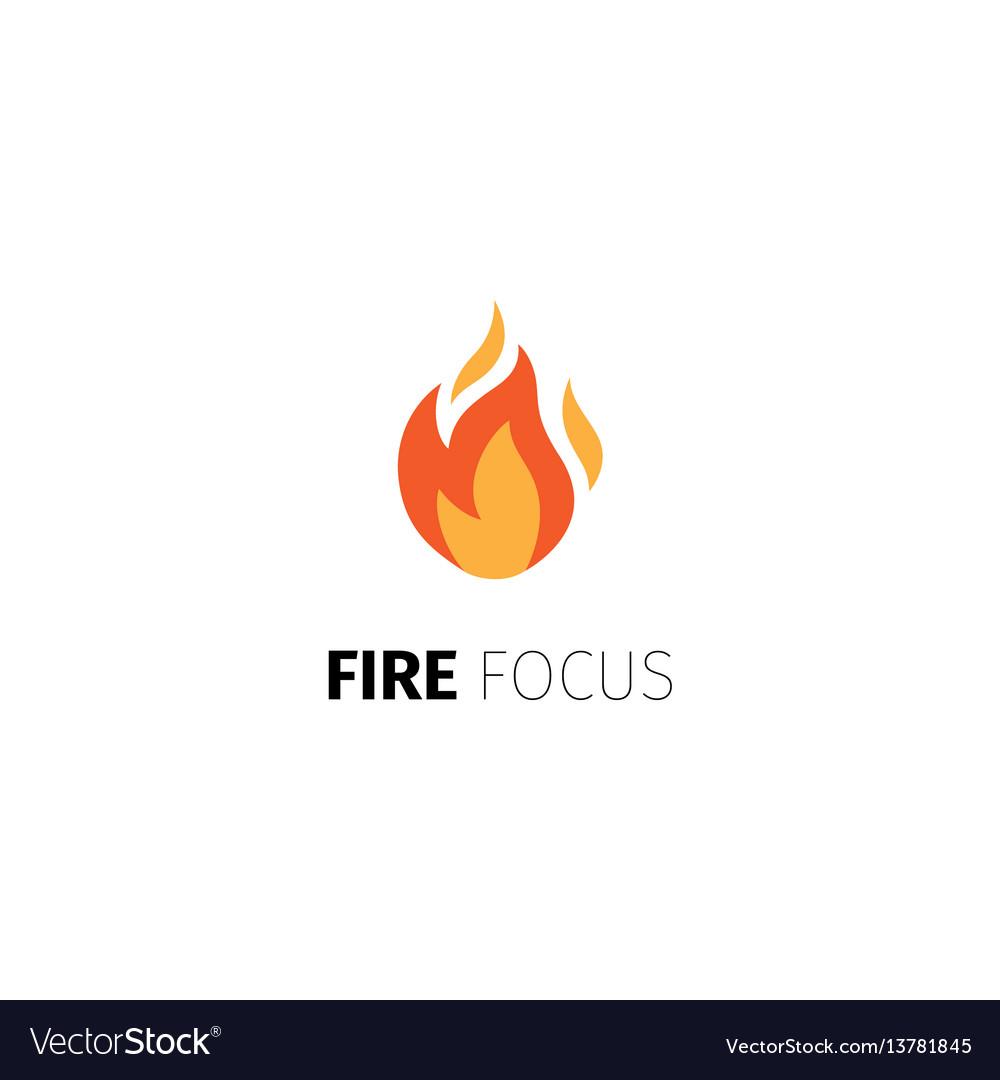 Fire focus logo template vector image