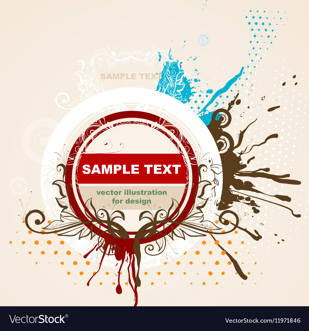 Grunge Frame for Design vector image