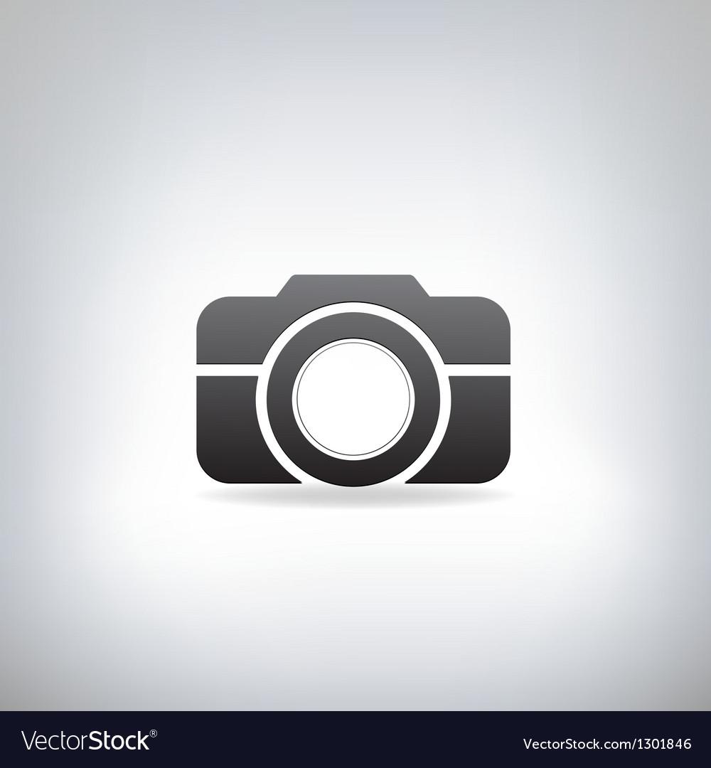 Stylized photo camera vector image