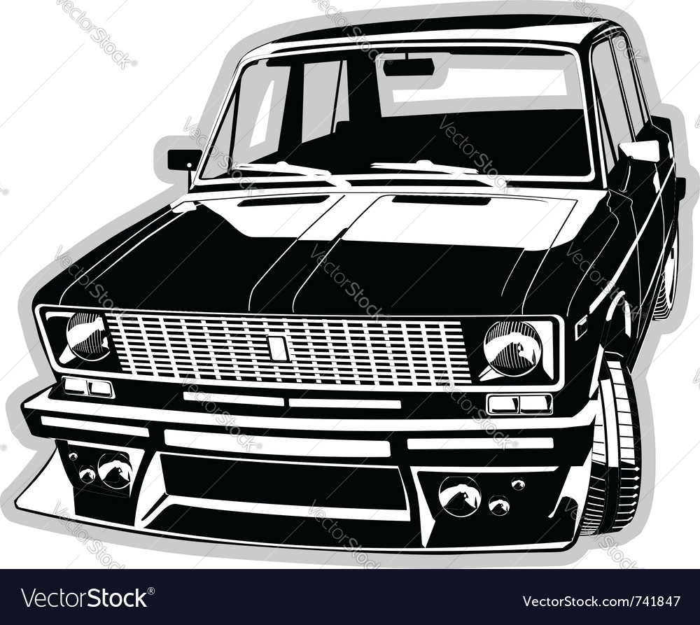 Custom car vector image