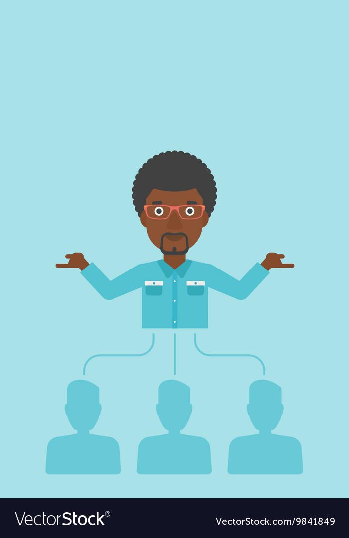 Businessman choosing employee vector image