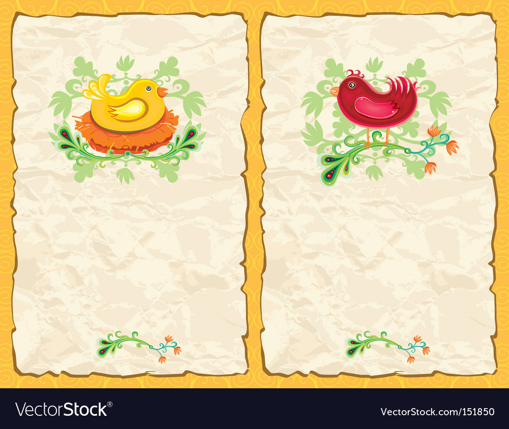 Easter textured backgrounds vector image